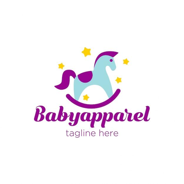 かわいいベビーアパレルのロゴ