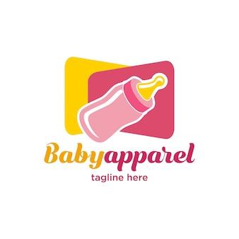 Cute little baby apparel logo