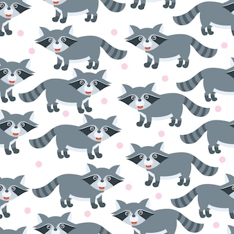 Cute little bear seamless pattern