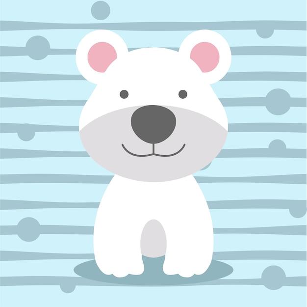 かわいいクマの柔らかい色の子供のtシャツのデザイン