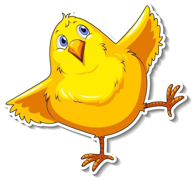 Милая маленькая птичка мультяшная наклейка с животными