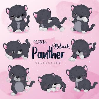 Cute little black phanter collection set