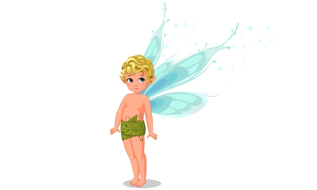Cute little boy fairy