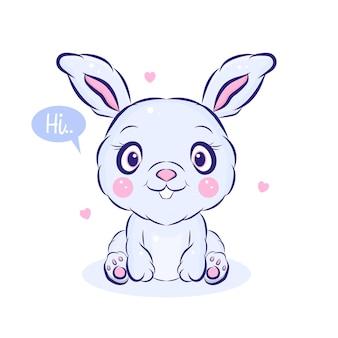 Cute little bunny  illustration