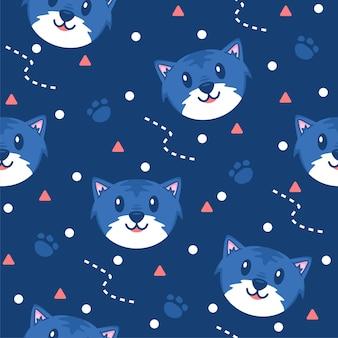 Cute little cat pattern illustrations