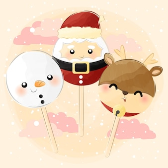 Cute little christmas lollipop