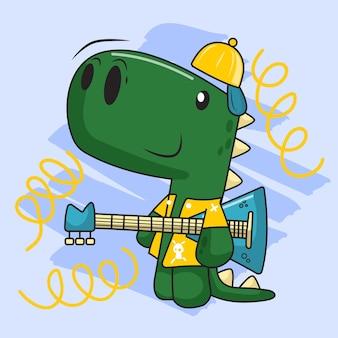ギターとかわいい恐竜