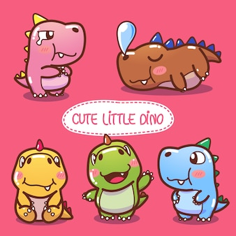 Cute little dinosaurs collection