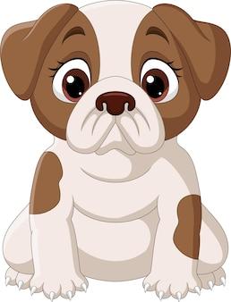 Милый маленький мультфильм собака изолированы