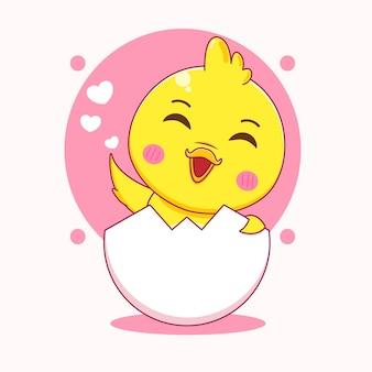 Милая маленькая утка мультипликационный персонаж иллюстрации