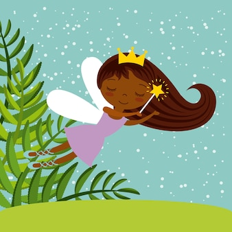 Cute little fairy character