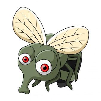 Cute little flies cartoon