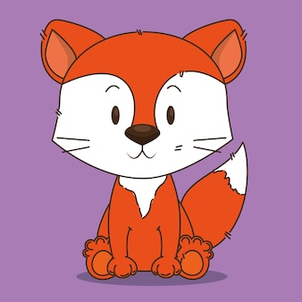 Симпатичный маленький лиса