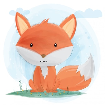 Cute little fox.
