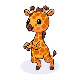 Милый маленький жираф мультфильм стоя