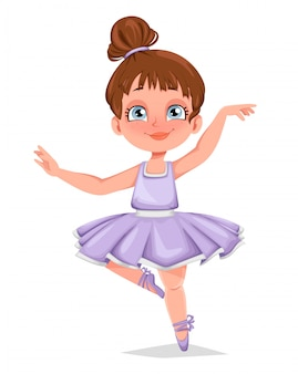 Cute little girl ballerina. funny girl