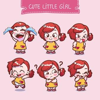 Коллекция милой маленькой девочки
