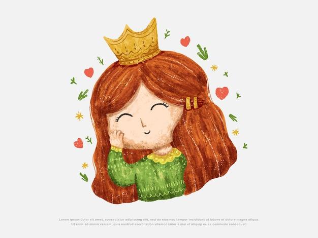 Cute little girl design illustration