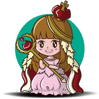 Cute little girl wearing the queen