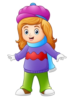 かわいい女の子、冬の衣服