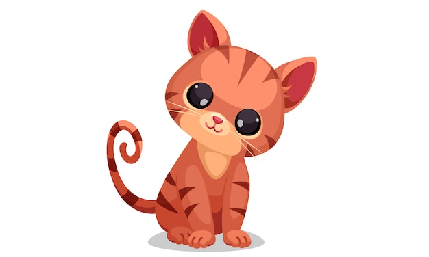 Cute little kitten vector illustration