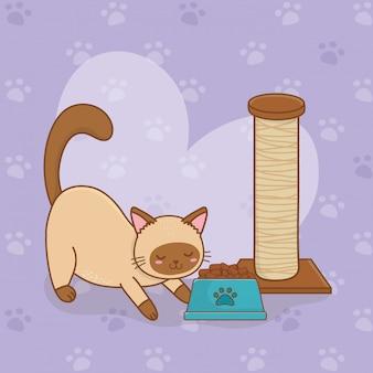 Cute little kitty mascot character