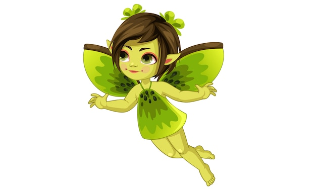 Cute little kiwi fairy