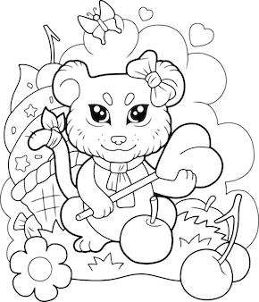 Милый маленький лев