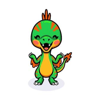 Милый маленький мультфильм динозавра овираптора