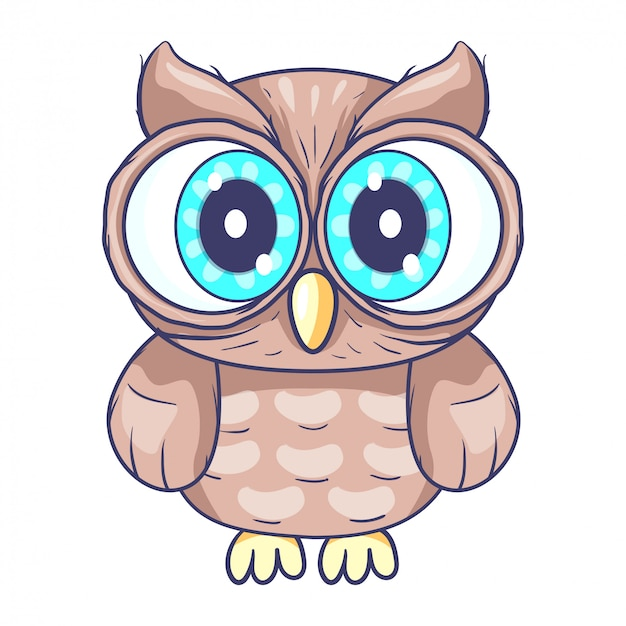 Cute little owl cartoon