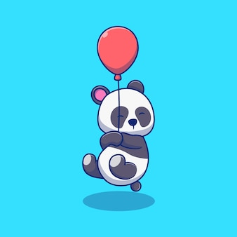 Cute little panda illustration design