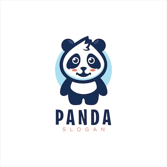 Cute little panda logo