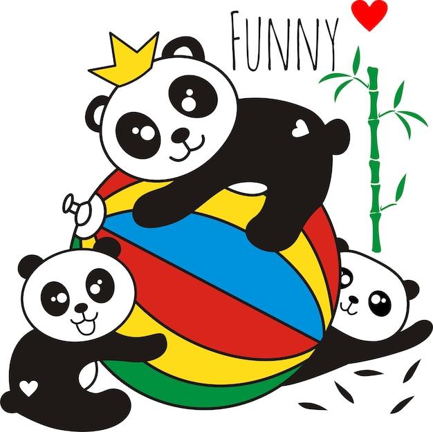 Cute little panda