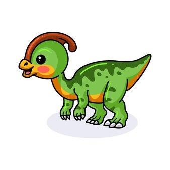 Милый маленький мультфильм динозавра паразавролофа