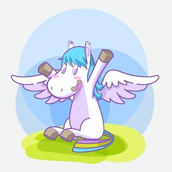 Cute little pegasus sticker set
