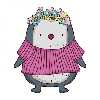 Cute little penguin with shirt