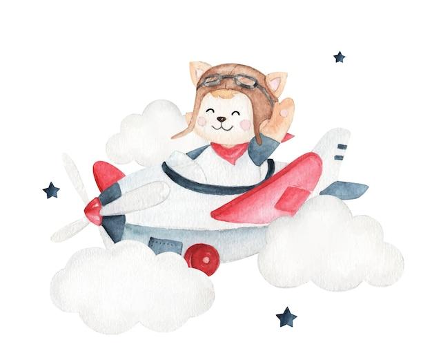 子供向け製品に最適なかわいいパイロット水彩画