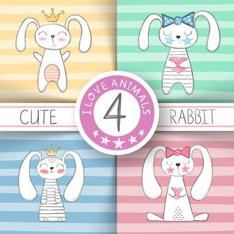 Cute little princess - cartoon rabbi