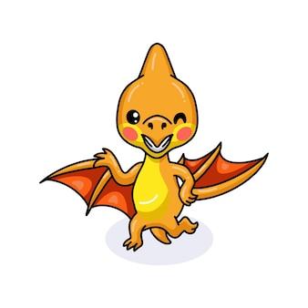 Милый маленький птеродактиль динозавр мультфильм