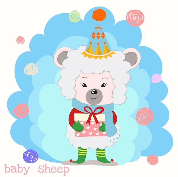 Cute little sheep cartoon