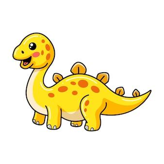 귀여운 작은 스테고사우루스 공룡 만화
