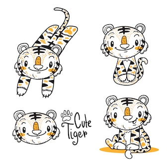 Cute little tiger cartoon