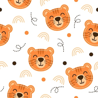 かわいい虎柄イラストデザイン