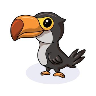かわいいオオハシの鳥の漫画