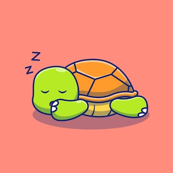 Cute little turtle illustration design