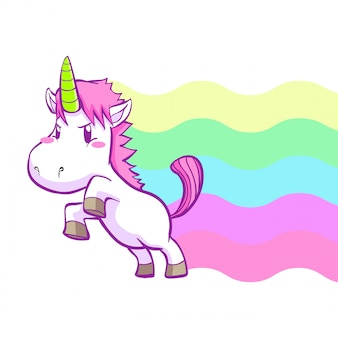 Cute little unicorn background