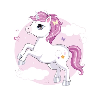 Cute little unicorn character