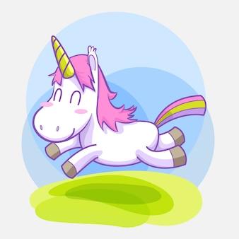 Cute little unicorn sticker set