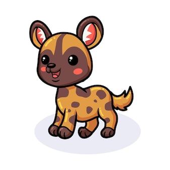Милый маленький мультфильм дикой собаки