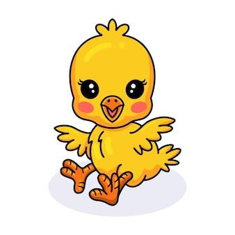 かわいい小さな黄色いひよこの漫画